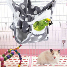 Flannel Gray Hamster Hammock for Rats Rodents Hamsters Mice Cage Accessories Us