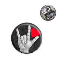 Lapel Hat Tie Pin Tack I Love You Sign Language