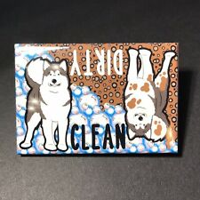 Alaskan Malamute Clean Dirty Dishwasher Magnet Handmade Dog Gifts and Home Decor