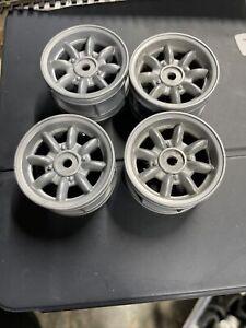 4 X Tamiya Minilite Wheels 1/10 RC Car Mini Cooper, NSU