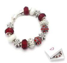 Girls Kids Childrens Christmas Snowflake Silver Charm Bracelet Xmas Gift Boxed
