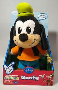 "Disney Baby Goofy Plush Talking Baby Doll - Fisher Price - 11"" - 2009"