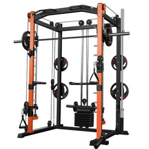 MW Multi-Function Smith Machine Squat Rack Cage System & 40kg Dumbbells Home Gym