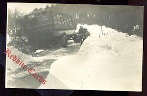 Aberystwyth Bus Crash in Snow Back (RP 1920's) Ceredigion