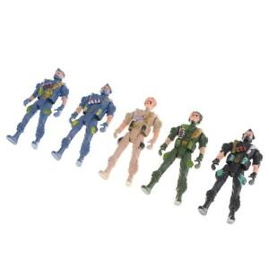 5pcs   Model Playset Toy 9cm Soldiers Paratroopers Action Figures