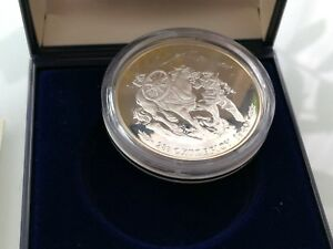 Greece 1000 Drachmai 1990 Silver Proof 50th Anniversary Italian Invasion