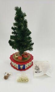 Vintage AVON Christmas Is Coming Musical Revolving Advent Calendar Tree Ornament