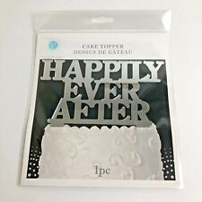 Wedding Cake Topper HAPPILY EVER AFTER I PC Silver Colored Victoria Lynn NEW