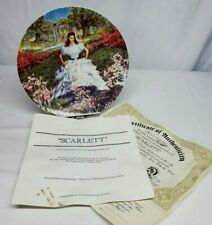1978 Knowles Gone with the Wind Scarlett Collector Plate by Raymond Kursar w Coa