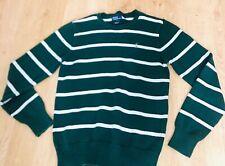 100%AUTH Polo Ralph Lauren boys striped dark Green & white Jumper top Size XL
