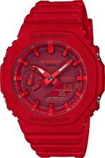 New Casio G-Shock Analog-Digital Red Resin Strap Mens Watch GA2100-4A