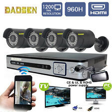 8CH 960H HDMI DVR Real HD 1200TVL CCTV Home Security Outdoor Video Camera System