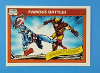 CAPTAIN AMERICA VS WOLVERINE #115 Marvel Universe Series 1 1990 Impel Card