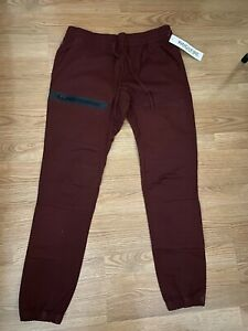 Ring of Fire Jogger Mens Large RedBurgundy Mashout Flex Fit Skinny New With Tags