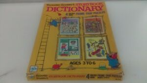 Vintage 1971 Richard Scarry's 4 Golden Book Storybook Dictionary Frame Puzzles