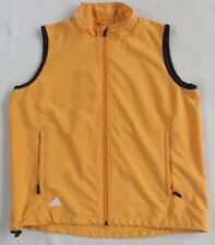 Adidas Women's 100% Polyester Clima Proof Full Golden Yellow Athletic Vest - S