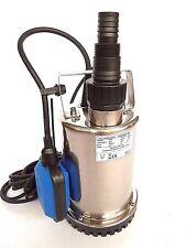 Neu! Flachsaugpumpe Edelstahl Tauchpumpe 400 Watt Schmutzwasserpumpe Kellerpumpe