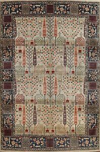 Vegetable Dye Geometric Super Kazak Oriental Area Rug Hand-knotted Wool 9'x12'