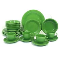 20 PIECE SET FIESTA SHAMROCK DINNERWARE (4) 5 PC PLACE SETTINGS DINNER BOWL MUG