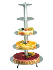 Wedding Cake Stand Round 5 Tier Aluminium Matfer 71cm
