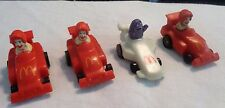 4 Vintage 1988 McDonald's TURBOMACS RACE CARS Ronald McDonald-Grimace Happy Meal