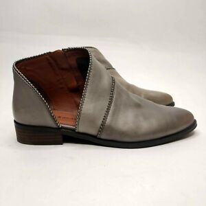 Lucky Brand Gray Leather Ankle Booties Boot Studded Size 9 Shootie