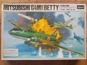 Hasegawa MITSUBISHI G4M1 BETTY  W/Ohka Bomb Maquette Avion 1:72 / Plane Model