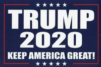 Donald Trump For President 2020  Keep America Great Vinyl Banner Sign  2 x 4'