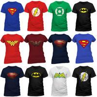 Justice League Logo Superhero Crest Official DC Comics T-shirt