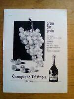 PUBLICITE ANCIENNE PUB ADVERT - Champagne Taittinger dos dos connaissan