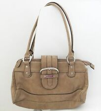 Rosetti tan camel beige basic faux leather shoulder bag purse handbag small size