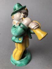 Art Deco Keramik-Figur Musiker Gmundner Keramik Emilie Schleiss Gmunden Austria