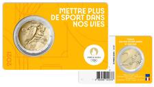 PREVENTE Coincard BU 2 Euros Commémorative France 2021 Olympic Jaune