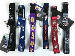 NFL NBA NHL MLB Breakaway Lanyard Keychain TEAM COLOR Official licensed
