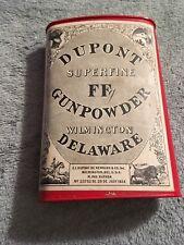 Dupont Superfine Ff Gunpowder Tin