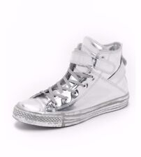 CONVERSE CTAS BREA Women's Leather Silver Sneakers 550912C Sz US 6.5  EU 37
