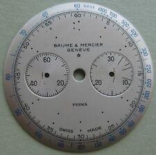 GENUINE VINTAGE BAUME & MERCIER PRIMA CHRONO WATCH PART WHITE DIAL 28.56 mm