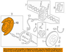 Infiniti NISSAN OEM Q50 Rear Brake-Backing Plate Splash Dust Shield 440301MC6A