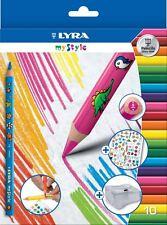 10 X Lyra' mi estilo » Lápices De Colores + Sacapuntas + Personalizar Con Pegatinas