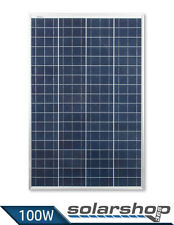 Solarmodul 100W Polykristallin mit HOHEM WIRKUNGSGRAD Camping Solarpanel