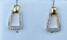 14K  GOLD DIAMOND DOOR KNOCKER EARRINGS 1/3CT