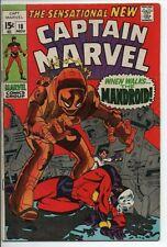 Marvel Comics Captain Marvel #18 FN Nov.'69  Carol Danvers gets her Powers