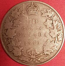 1919 Silver Canadian 50 Cent Coin   ID #94-16