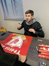 STEVEN GERRARD GIANT THIS IS ANFIELD SIGNED POSTER.BUY BY 20/12 4 Xmas Del £75