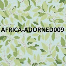 SCHUMACHER SOUTHERN CHARM DOGWOOD & LEAVES FABRIC 10 YARDS AQUA