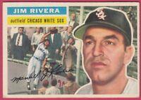 1956 Topps # 70 Jim Rivera - White Sox (VG-EX)