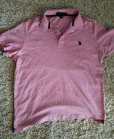 Men's U.S. Polo Assn Luxury Feel Pink L Polo Top 80% Cotton 20% polyester