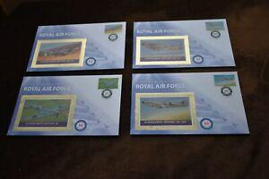 2007 Grenada Benham Silk Covers, Spitfire, Royal Air Force 90th, Set of 4