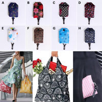 Foldable Handy Shopping Bags Nylon Reusable Tote Pouch Recycle Storage Handbags