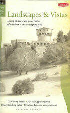 Walter Foster How to Draw Landscapes & Vistas step by step outdoor scenes NEW PB